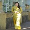 Miss Vietnam in Vo Viet Chung's ao dai